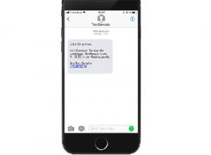 informations und krisen sms